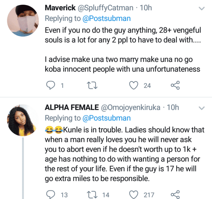 Nigerians react as lady swears at man who refused marrying her after 28 abortions aschoolz.com