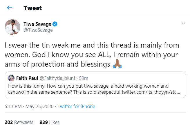 """""""Women are always pulling me down, I doubt it will ever change"""" – Tiwa Savage 2"""