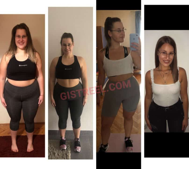 Lady shares transformation photos