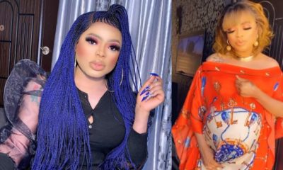 Blogger shades Bobrisky as he claims he's pregnant and shows fake bump