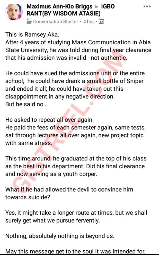 photogrid plus 15948974264104284175879714596206 - Man instructed after commencement that his admission was invalid, repeats four years