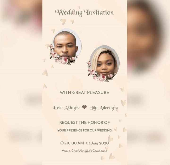 Wedding Card For Eric And Lilo