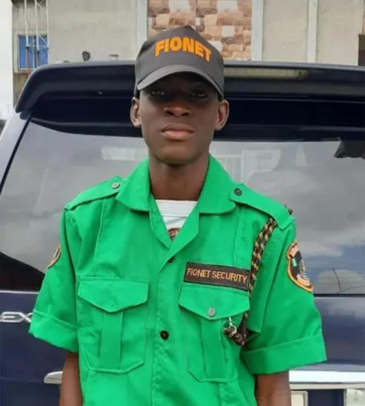 Nigerian father employs son as security man in his company