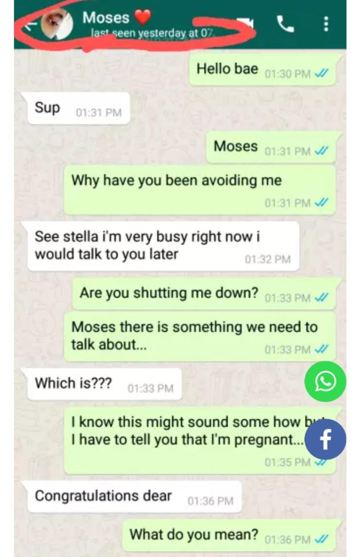 """""""I will send you N55K to get rid of that doomed pregnancy"""" – Lady shares chat with boyfriend who got her pregnant"""