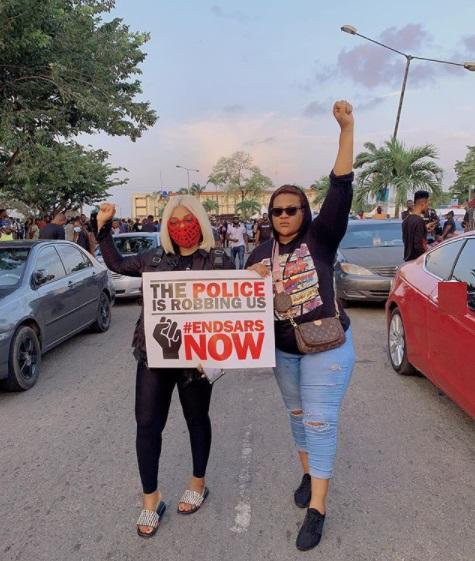 nkechi blessing, endsars protest