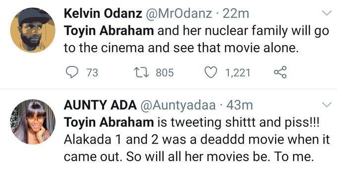 "Toyin-sars2 Nigerians Blast Toyin Abraham for saying ""should I leave my movie because of SARS"""