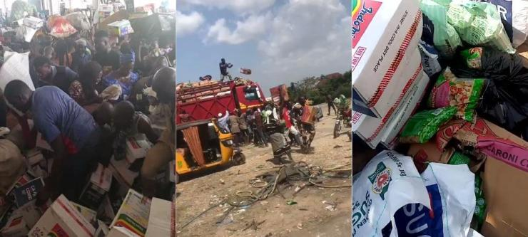 Residents discover warehouse, cart away COVID-19 palliative's in Kwara state (Videos)