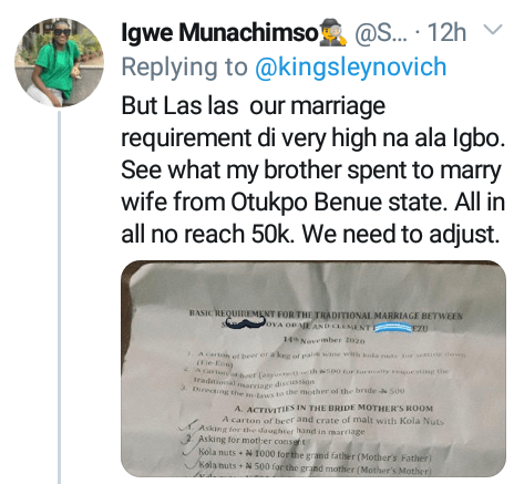 Bride price reduction in Igboland