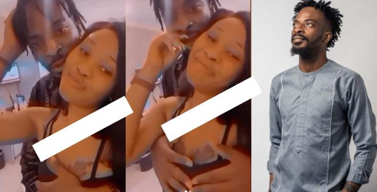 9ice fondling lady's breast
