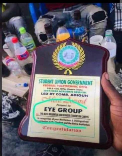 Polytechnic offa award cultists eye