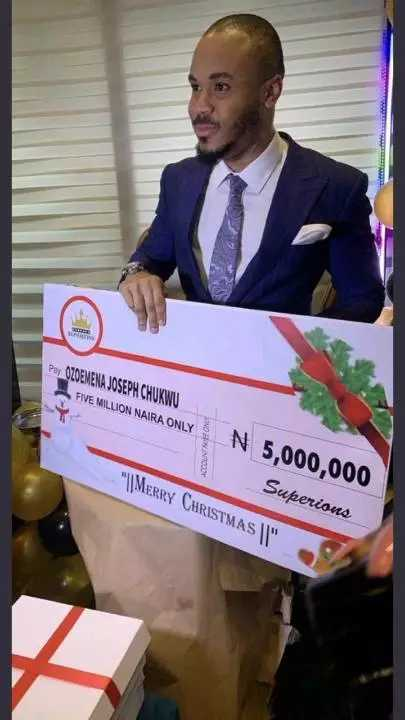 ozo 5 million naira for christmas