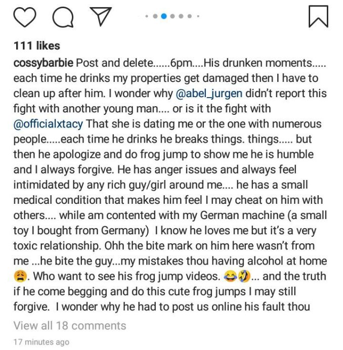 Cossy Orjiakor reacts to broken relationship