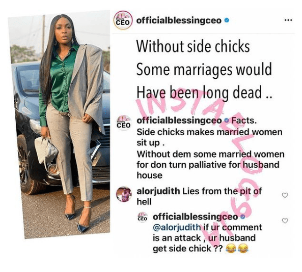 okoro side chick marriage
