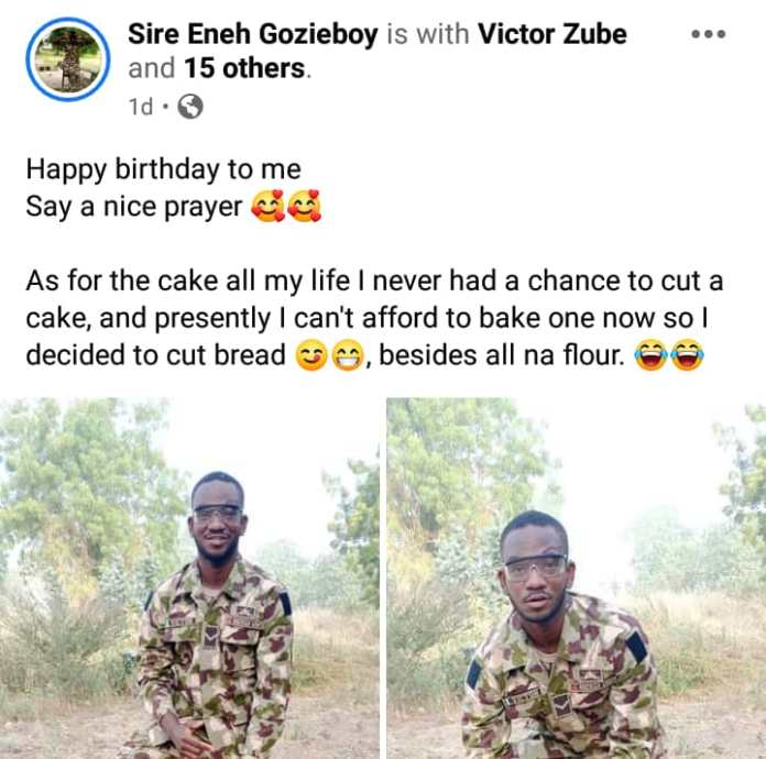 Touching way soldier serving in Borno celebrated his birthday (Photos) -  247 News Around The World