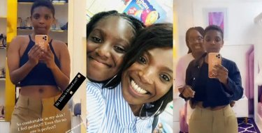 Annie Idibia raids her 12-year-old daughter's closet to wear her clothes