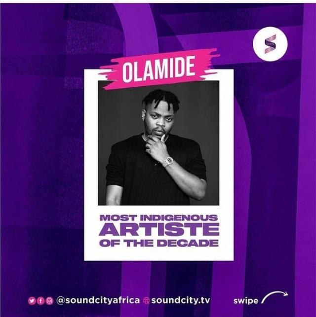 Olamide Baddo crowned most indigenous artiste of the decade