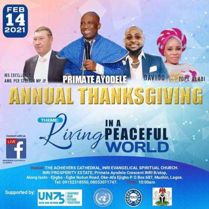 Davido to perform alongside Tope Alabi at Church thanksgiving (Video)