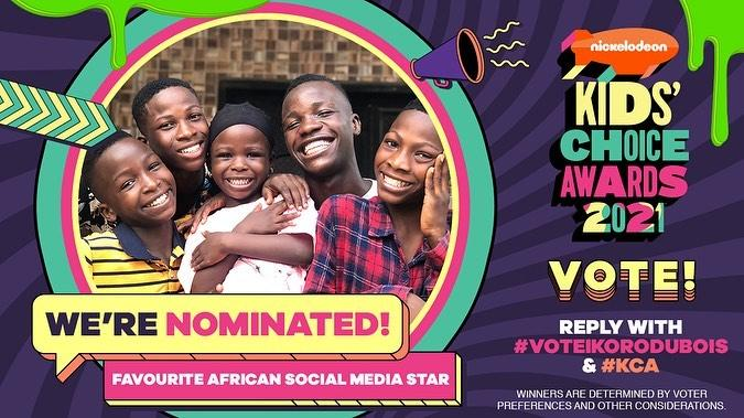 Ikorodu Bois Nominated For Nickelodeon Kid's Choice Award