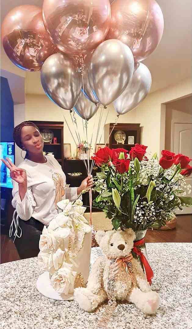 Adesua Etomi makes first appearance online after giving birth (Video)