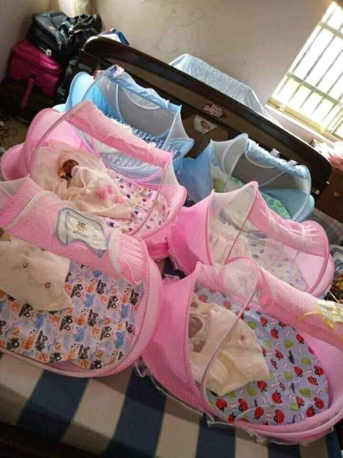 Couple welcomes sextuplets