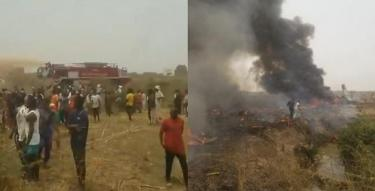 Military aircraft crashes near Abuja airport, with no survivors recorded