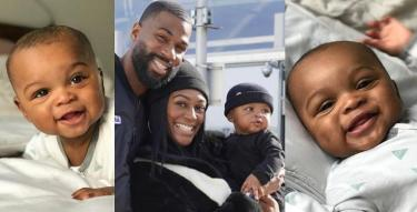 Mike Edwards shares adorable photos of son ahead of 6months birthday