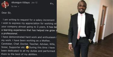 Nigerian Wife Applies For Salary Increment From Her Husband Via Email