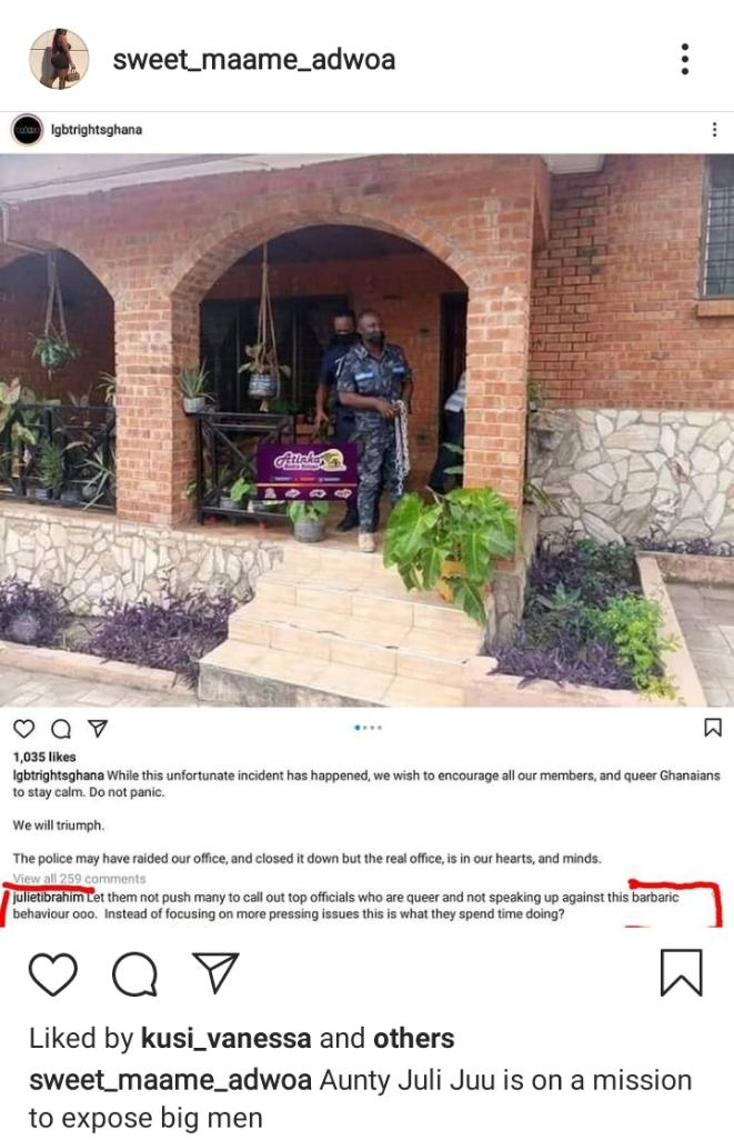 Actress Juliet Ibrahim on a mission to expose top politicians who are gay (Screenshot)