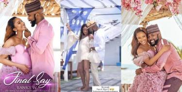 Banky W and Adesua vibing to a song during their baby shoot (Video)