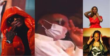 Wizkid's reaction as Bovi says 'blow' Tems as you did to Tiwa (Video)