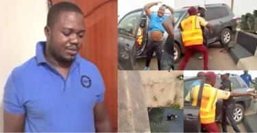 Driver who knocked policeman off a bridge arraigned for attempted murder