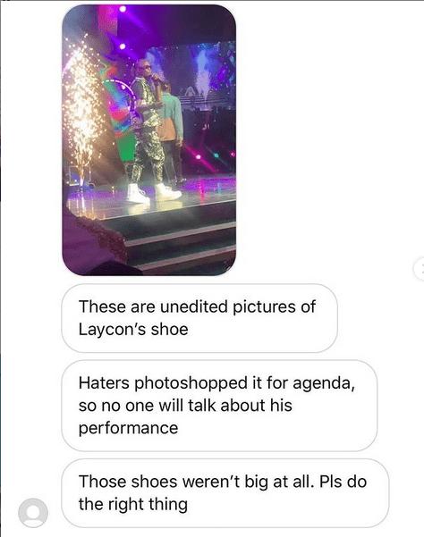 Laycon Shoe is photoshopped