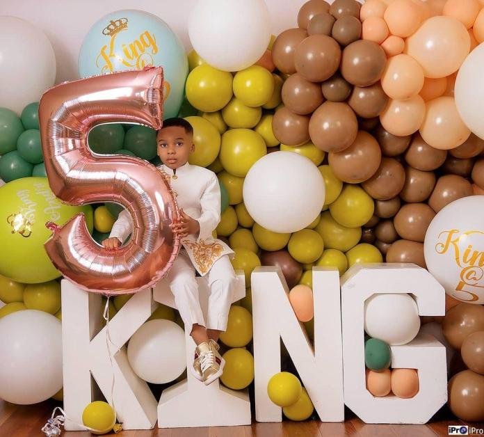Tonto celebrates son on his birthday