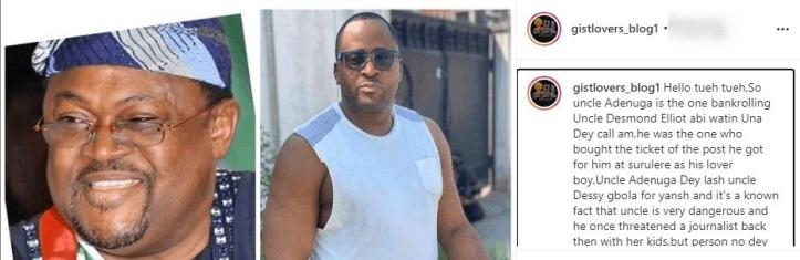 """Billionaire, Mike Adenuga sponsors Desmond Elliot, they're lovers"" - Blogger alleges"