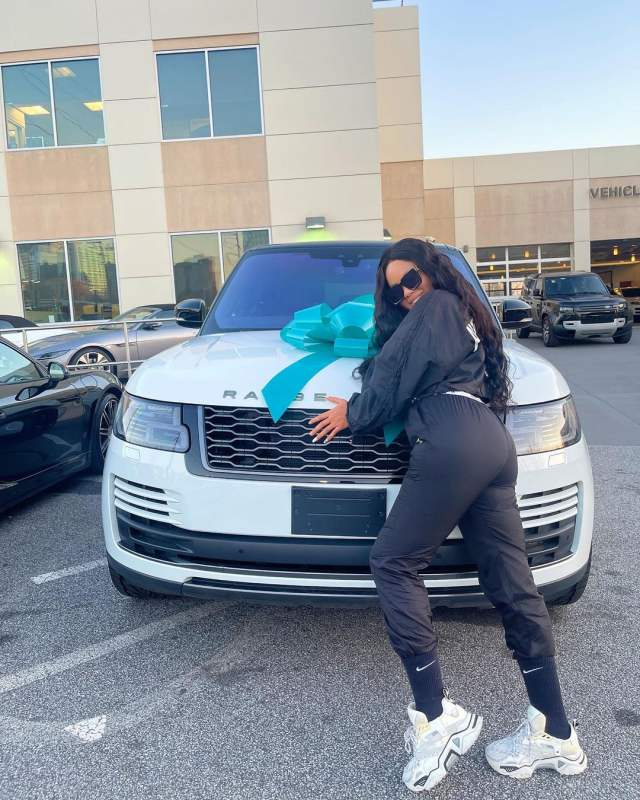 Nina Ivy gets brand new Range Rover gift from husband (Video)
