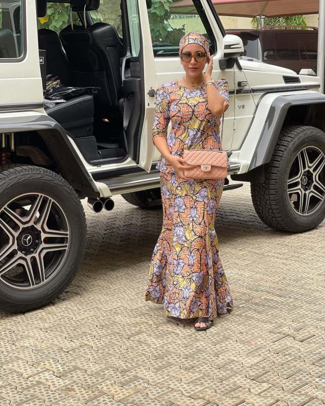 Ned Nwoko's wife, Laila dazzles as she rocks Ankara for the first time (Video)
