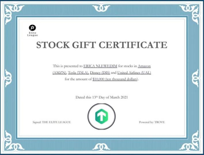 Fans gift Erica International stocks worth N3.8m, plus all expense paid trip to Kenya