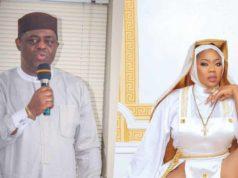 FFK blasts Toyin Lawani's nun-themed photos