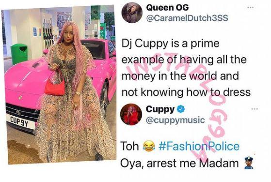 Twitter Money DJ Cuppy Dress