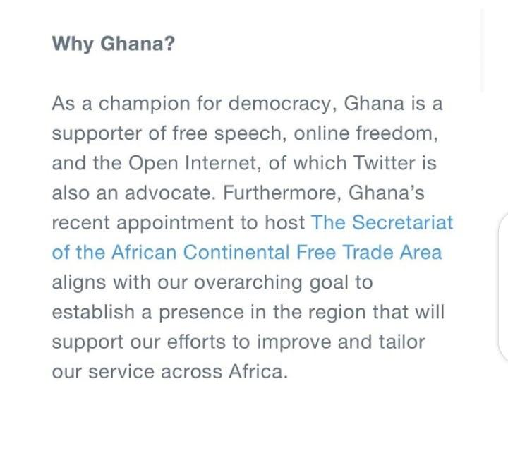 """""""Ghana is the real giant of Africa"""" – Reactions As Twitter Opens Headquarters In Ghana, Snubs Nigeria"""