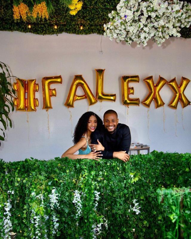 Actor, Alex Ekubo, gets engaged to his girlfriend, Fancy Acholonu (Photo)