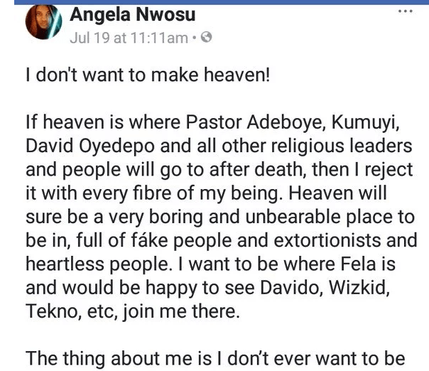 Angela Nwosu heaven