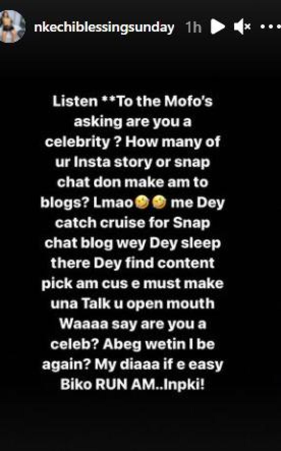 Nkechi Blessing celebrity fans