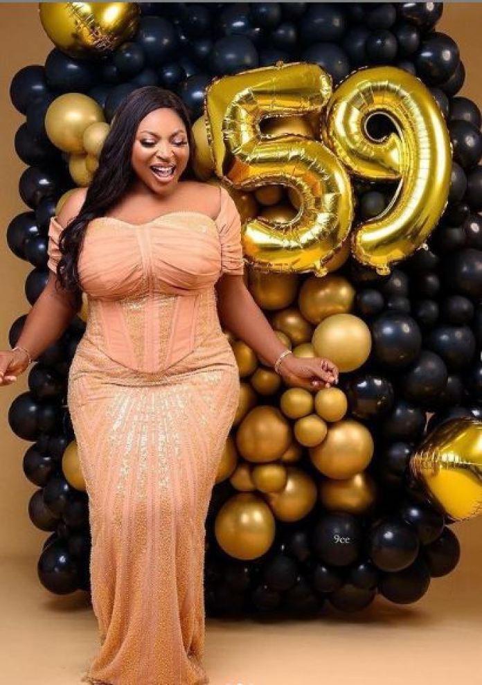 Birthday photoshoot 59-year-old woman