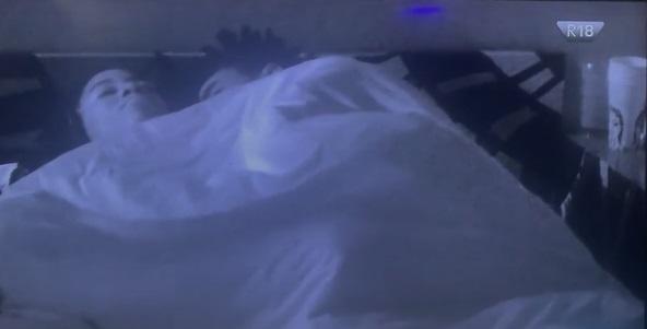 #BBNaija: Boma and Angel cuddles aggressively under the duvet (Video)