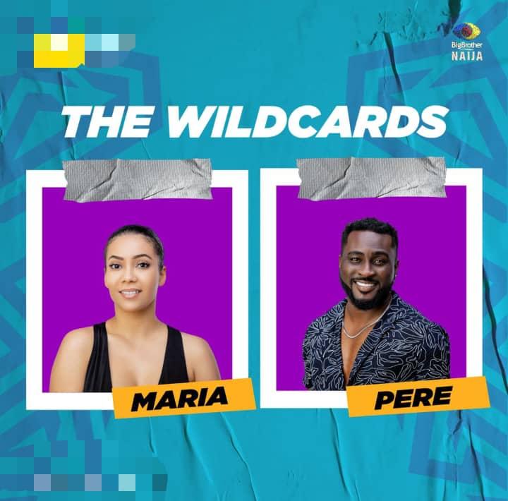 BBNaija Wildcard Housemates Maria and Pere