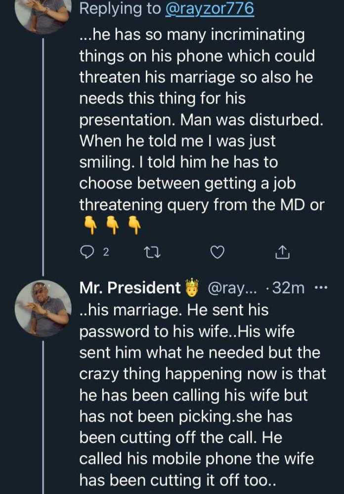 Man narrates how his cheating friend landed in trouble after forgetting his phone at home with his wife