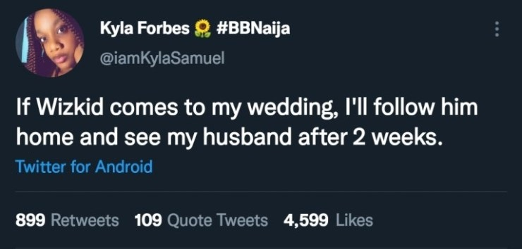 """""""I'll follow Wizkid home for two weeks if he attends my wedding"""" - Lady dragged to filth over claim"""