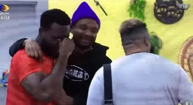 #BBNaija: Pere sheds warm tears after escaping eviction nomination (Video)