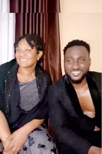 """""""Where did you get that energy from"""" - Cross' mom meets Pere, questions son about performance on BBNaija (Video)"""